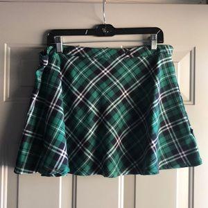 Royal bones Green plaid skirt